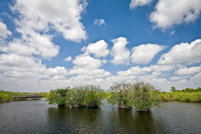 Clouds over the Everglades Anhinga Trail March 31, 2009