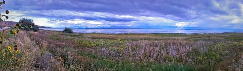 Great Salt Lake iPhone panormama, looking northwest