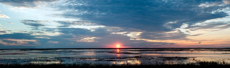 Sunset over Alice Jackson Unit