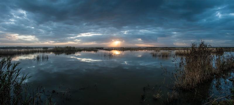 Sunrise over Shoveler Pond