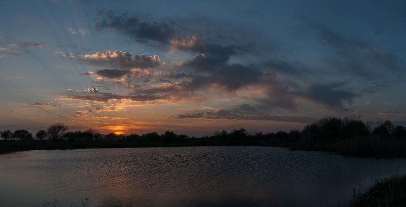 Entrance Pond Sunset