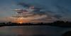 Sunset over the pond at the refuge entrance.