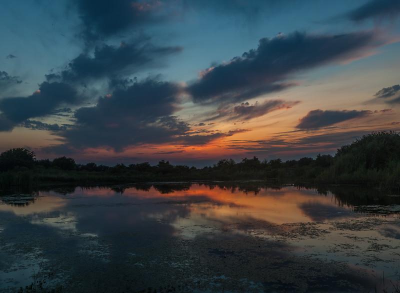 Entrance Pond after Sunset