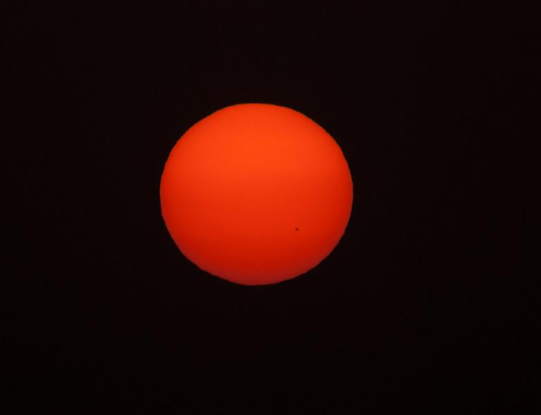Sun showing Sunspots
