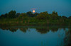 Moonset over the Entrance Pond