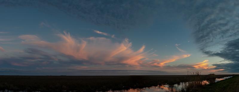 Sunset seen from Shoveler Pond