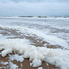Here is some of the sea foam that lined to beach.  The wind would sometimes break smaller pieces of foam off and it would blow smoothly along the sand much like a piece of dry ice glides across a smooth tabletop.