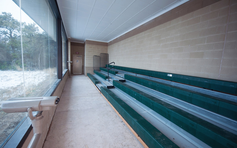 This is the inside viewing area of the blind and could easily seat 60+ people.