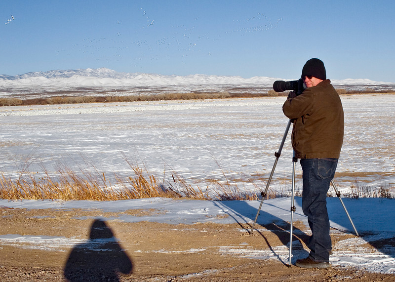 Photo of me while photographing Snow Geese in -15F degree temperature.