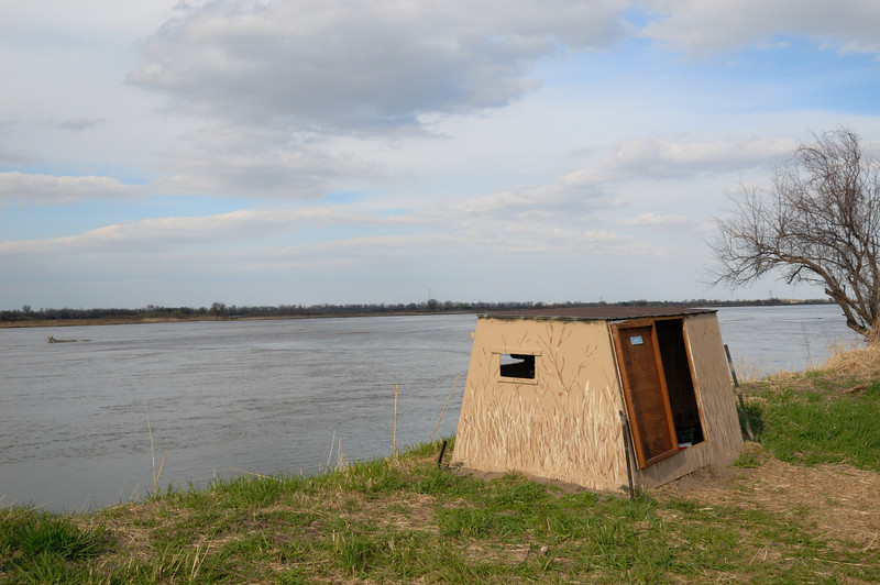 Photo Blind on the banks of the Platte River.
