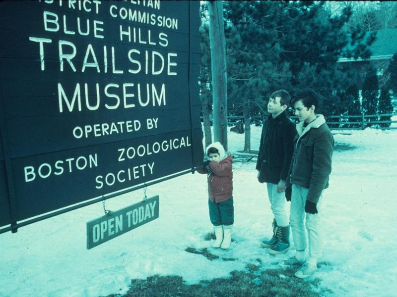 Norman (middle) visiting Trailside before it was operated by Mass Audubon