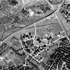 1938: Aerial photograph by the U.S. Geological Survey, taken after the construction of American Legion Highway; note also the new hospital buildings and roads (including the three brick buildings along the Walk Hill entrance, still there today) and the decrease in the size of the marshland.  <em>Courtesy U.S. Geological Survey.</em>