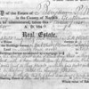 1844: Probate inventory of the real estate of Benjamin Payson Williams, deceased, one of the major farmers on the site in the early nineteenth century.  <em>Courtesy of the Norfolk Probate and Family Court.</em>