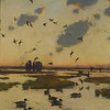 """From the <a href=""""http://www.massaudubon.org/Nature_Connection/Sanctuaries/Visual_Arts/index.php"""">Mass Audubon Art Collection</a>: Frank W. Benson, <i>Pintails, 1921"""