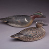 """From the <a href=""""http://www.massaudubon.org/Nature_Connection/Sanctuaries/Visual_Arts/index.php"""">Mass Audubon Art Collection</a>: A. Elmer Crowell, <i>Green-winged Teal Pair, c. 1916"""