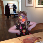 Mask making in the gallery was a hoot!