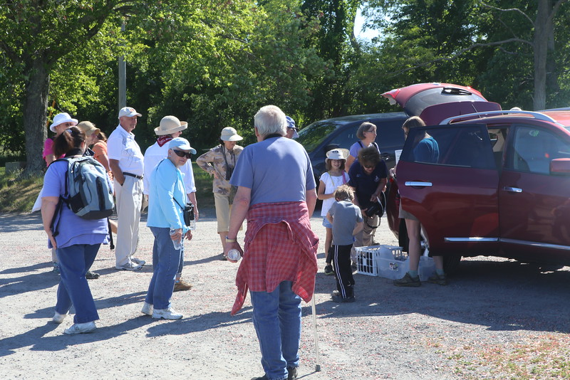 22 of us – including two enthusiastic children – gathered in the parking lot