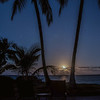 The setting full moon, Kealakekua Bay, Big Island, Hawaii, USA