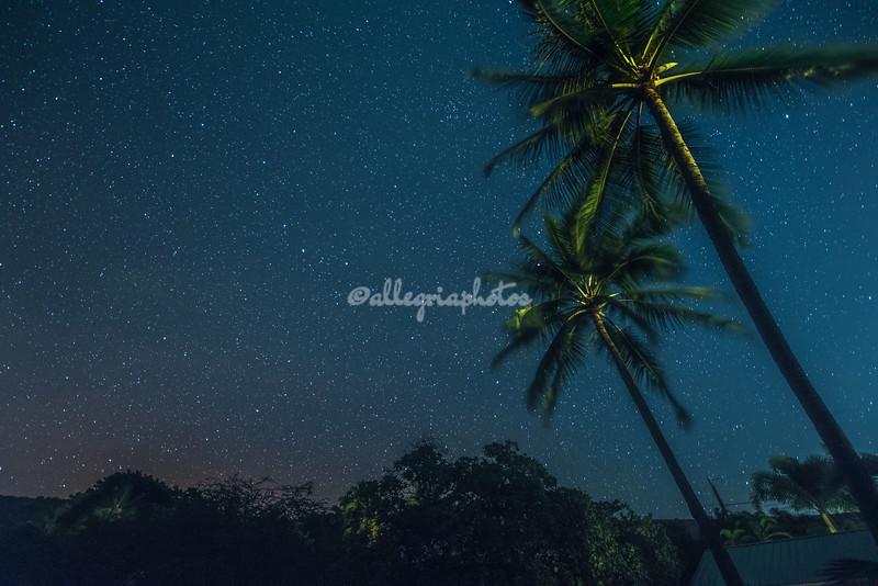 Night Sky, Kealakekua Bay, Big Island, Hawaii, USA