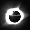 Black and white solar eclipse lens refraction 2017