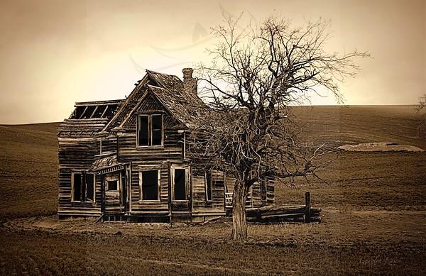 Wheat field mansion.
