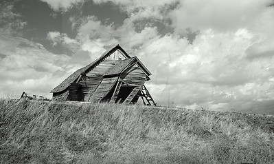 124 ~ Skeen School in black and white.