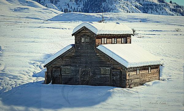 99 ~ Port Barn in Winter.