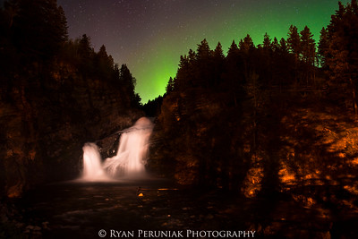 This was the only time I've seen the Aurora Borealis in the sky above Cameron Falls. Admittedly I'm not up at 2am very often, but it still seemed rather special for this far south!