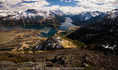 View of Waterton Lakes from Mount Crandell.