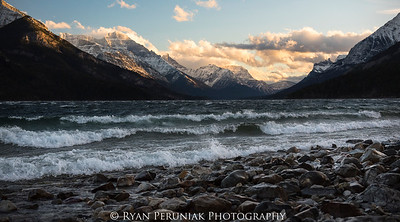 I literally stumbled onto this photo after being blown over by the 100km/hr winds this weekend in Waterton!  Holding my camera steady while standing wasn't going to happen, so I gave into the wind and took this shot as I lay on the ground.
