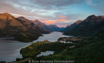 A mid-summer evening in Waterton.