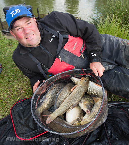 Will Raison with some of the carp caught across from Westwood Lakes, Skylark Lake.