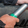 Pole fishing accuracy aid - electrical tape marks where to hold the pole