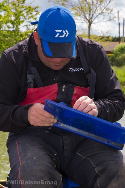 Will Raison choosing a hook length from a hook length box.