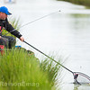 Will Raison nets a fish on a silver painted topkit and white Hydrolastic  on a commercial  canal style lake. Skylark at Westwood Lakes, Boston Lincs.