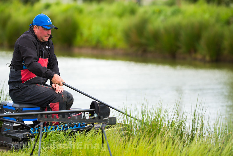 Will Raison fishes the short pole in the near margins