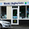 Woody's Angling Centre shop front.