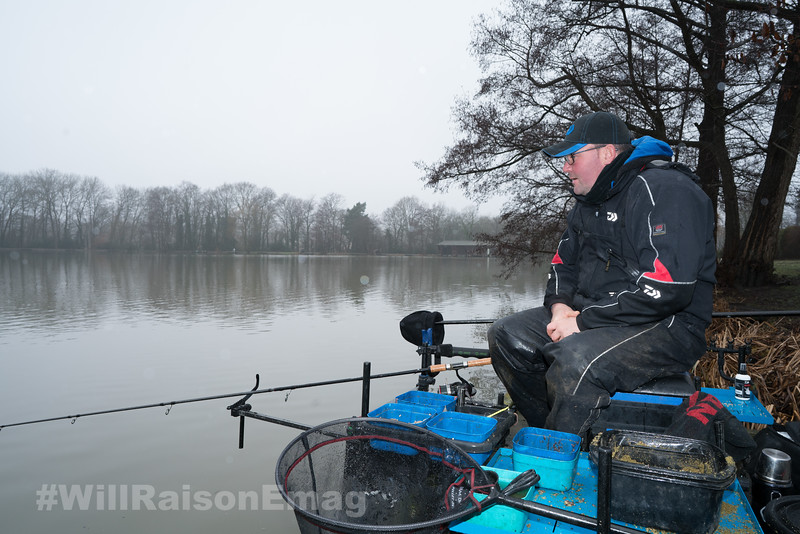 Will Raison waits for a bite while fishing the feeder.