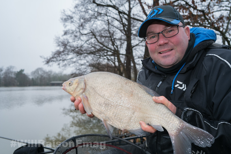 Will Raison holds a decent bream from his 26 bream catch.