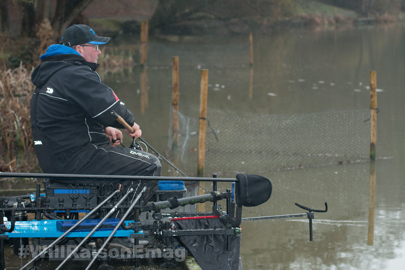 Will Raison winds in a bream hooked on the distance feeder gear.