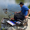Will Raison fishing the pellet waggler on Gold Lake at Gold Valley, Aldershot, UK. © 2009 Brian Gay