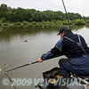 Will Raison nets a good carp on the long pole. © 2009 Brian Gay
