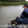 Will Raison plays a good carp on the long pole. © 2009 Brian Gay