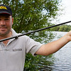 Will Raison fishing Willow Park Big Lake on the pole for bream, F1's and crucians. © 2009 Brian Gay