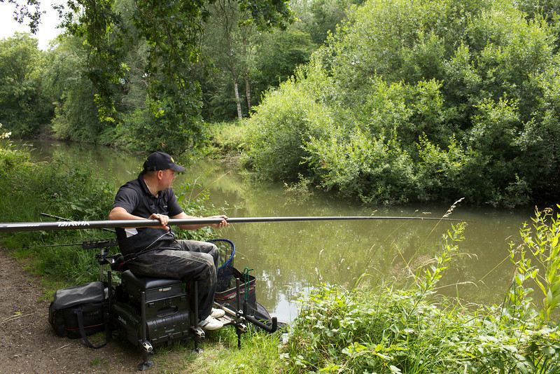 Will Raison Fishes the basingstoke Canal for big fish. © 2011 Brian Gay