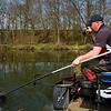 Will Raison play a carp on a  waggler rod running line setup.