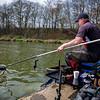 Will Raison nets a carp using the Tournament Pro 1011Q  Feeder rod.