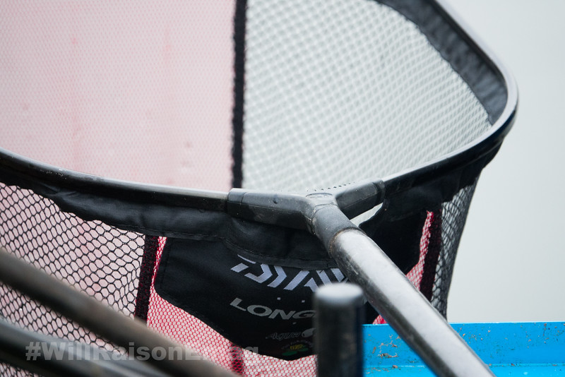 Daiwa Longbow landing net head ready for use.