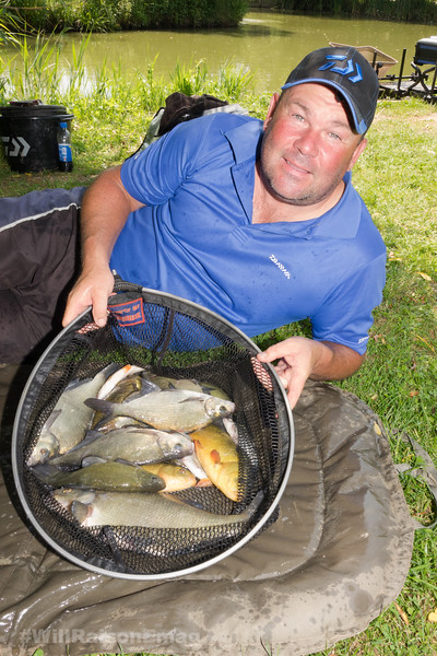 Will Raison With A Silver Fish Catch From The Sedges Canal Lake.