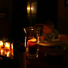 Candlelit dinner.... no power!